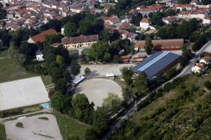 Vue aerienne du site